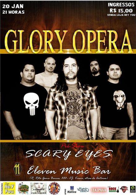 Glory Opera - Amanhã, 20 de janeiro, no Eleven Music Bar