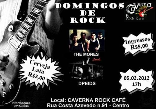 CARTAZ DOMINGOS DE ROCK NO CAVERNA